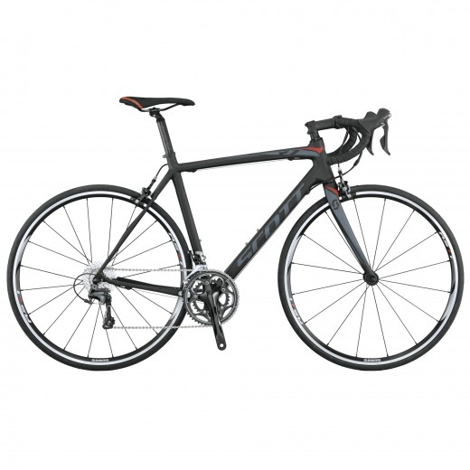 The Scott CR-1 features a full carbon frame