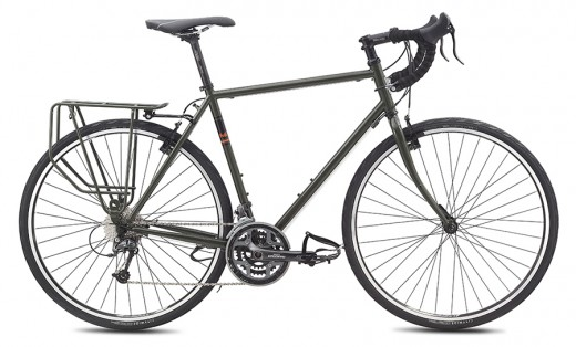 The Fuji Touring bike is designed for carrying camping gear when you go on trips