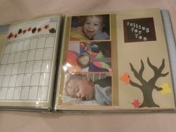 fall Halloween scrapbook page layout
