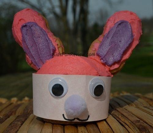Easter bunny cupcake craft