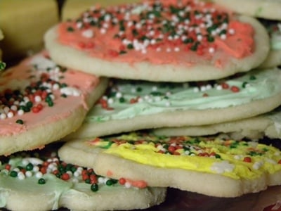 Christmas shortbread cutout cookies