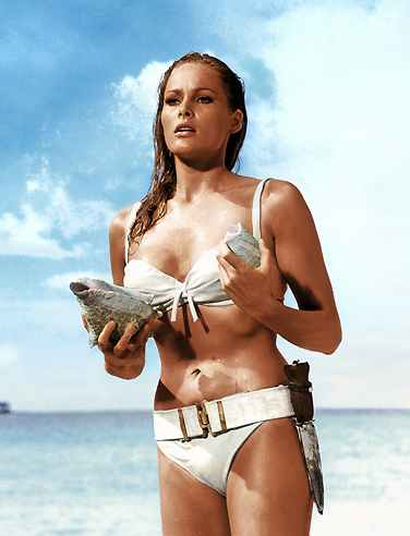 Ursula Andress in the 1962 Bond movie, Dr. No