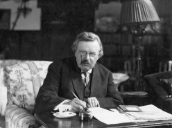 What is G.K Chesterton's view of America and Americans?
