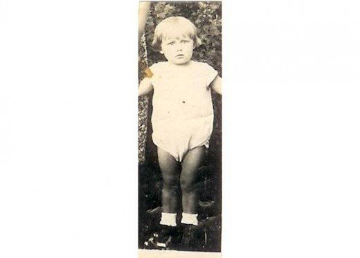 Dad at age 1. 1937 This is the only picture I have of Dad as a baby, and the only copy I have is digital. Sadly the original may have been lost in a housefire.