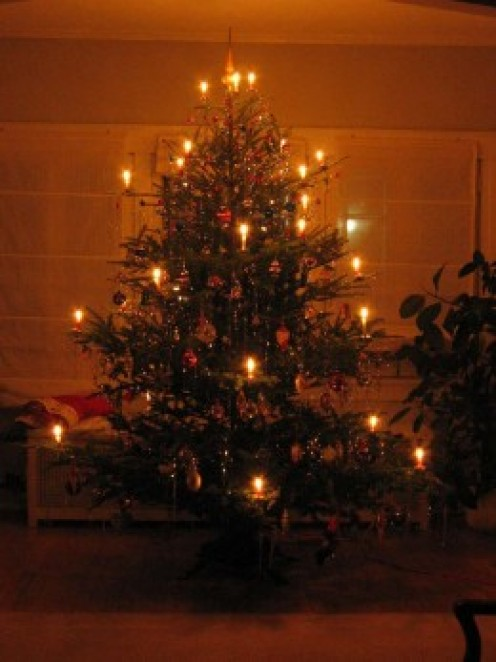 German Tree with candles