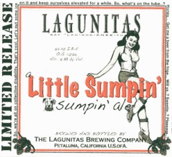 Notice the bold, easy to read lettering of the main points of the label.  The fine print on Lagunitas labels also includes a semi-random story about the beer and all of the necessary things that have to be on there.