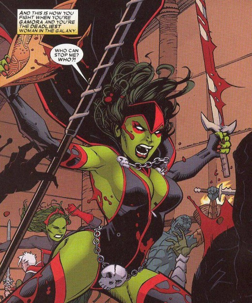 Gamora Red and Black Costume