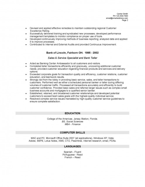 bank teller resume example sample bank teller resume