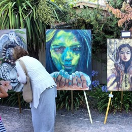 Artwork displayed at the annual Foundation event