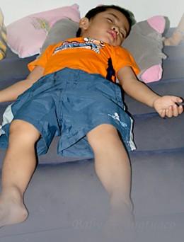 deep sleep of a child