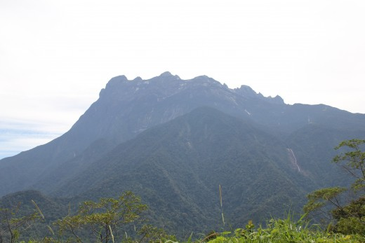 Viewing the majestic Mount Kinabalu from far.