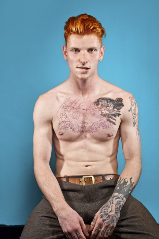 Redhead male with ink