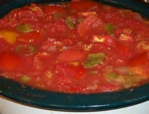 Stewed Tomatoes in Crock Pot