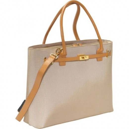 Women In Business Thoroughbred Laptop Tote (Tan)