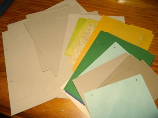 A selection of pages ready to go.