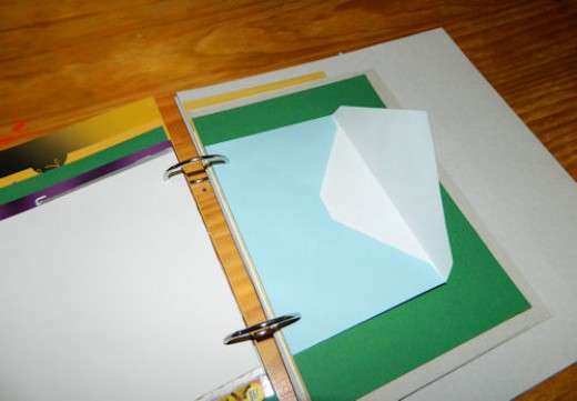 One of the envelope pages - perfect for tucking small treasures into.