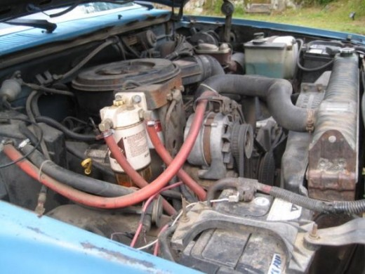 170hp International Harvester 6.9 IDI Diesel engine