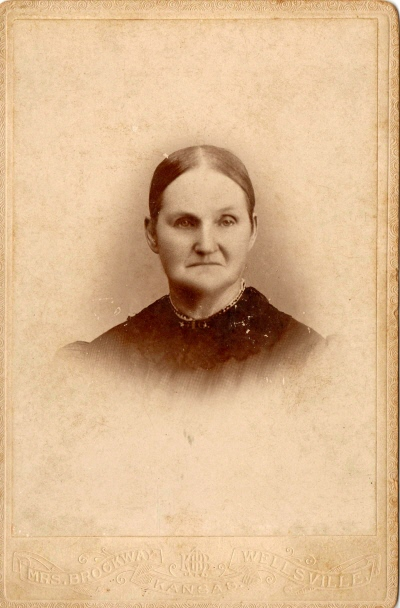 This photo of Elizabeth Rosebaugh Kennedy had always been in our family's collection.