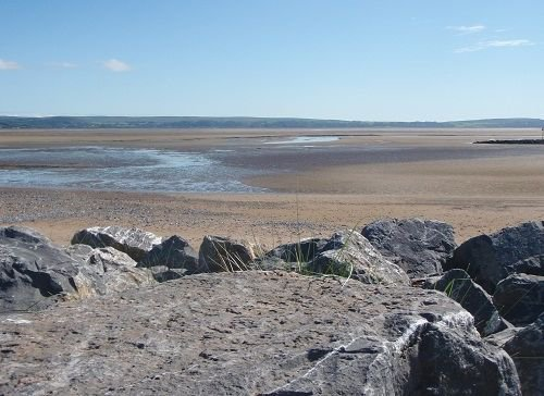 The mud flats at the Millennium Coastal Park in Llanelli