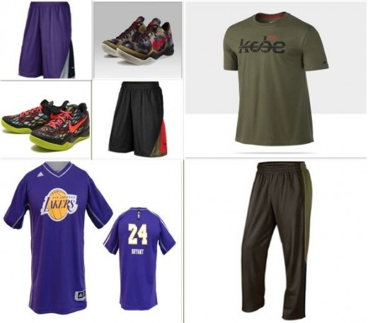 Clothing & Accessories from Kobe Bryant