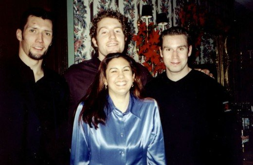 "_X_Albany River Rats 2000 Holiday party ~""Short Person in the middle""~ (Ed ward, Mike Commodore & Henrik Renberg)"