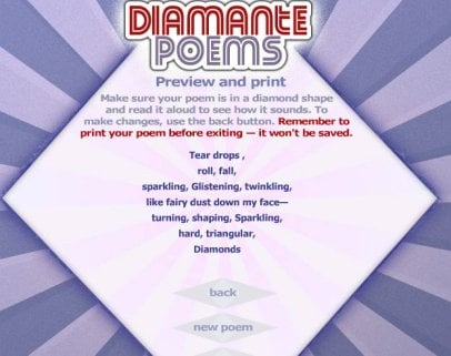 WRite a  Diamante Poem