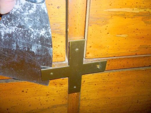 I carefully removed decorative hardware and handles
