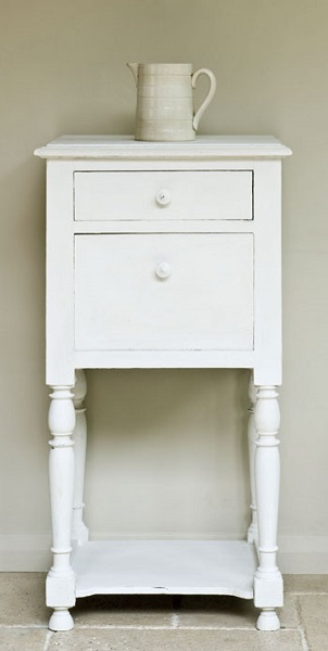 ASCP's 'Old White' used on the interior of the china cabinet hutch and buffet