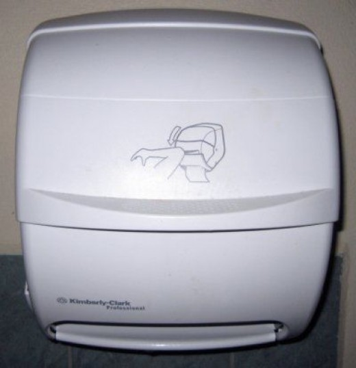 Use Your Elbow to Get Paper Towels