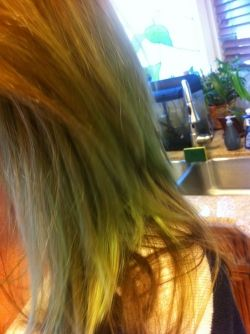 GREEN swimmers hair