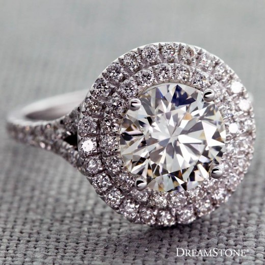 Design your engagement ring around the your dream diamond. Dreamstone.com can create a custom setting to perfectly fit your diamond.