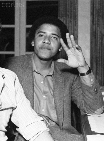 A young Barack Obama