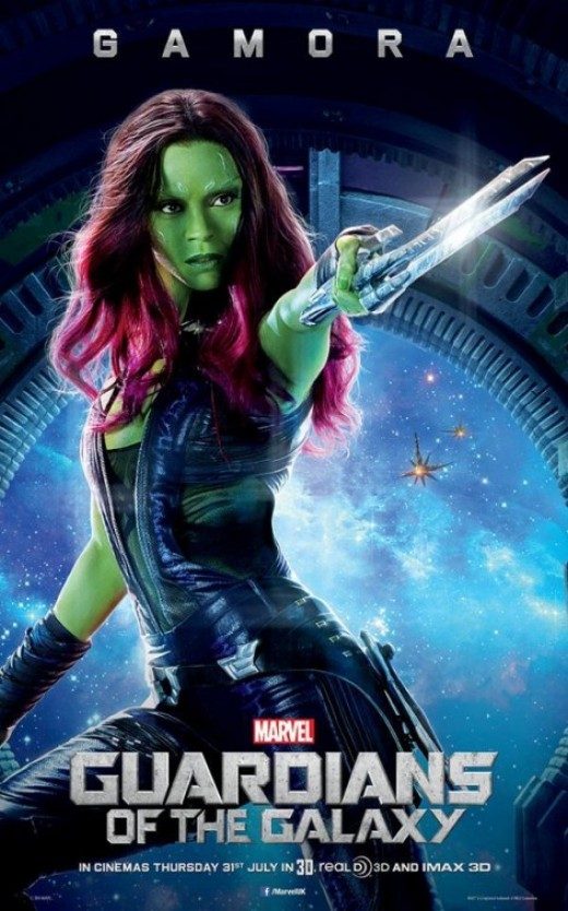 Zoe Saldana Guardians of the Galaxy Movie Poster