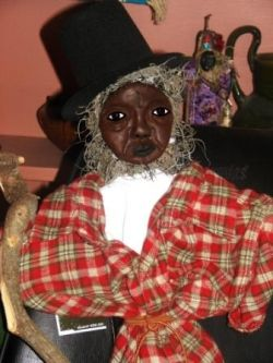 Papa Legba altar doll copyright 2010 Denise Alvarado All rights reserved worldwide.
