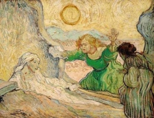 The Resurrection of Lazarus by Vincent van Gogh, 1889-90