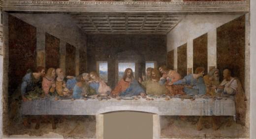 Leonardo da Vinci's late 1490s mural painting in Milan, Italy