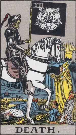 Tarot card from the Rider-Waite tarot deck, also known as the Rider-Waite-Smith deck.