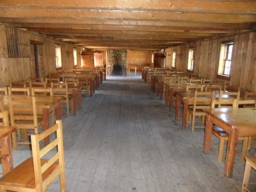 The soldiers dining hall in the fort