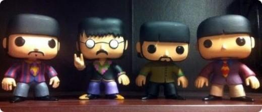 Funko Pop Beatles painted prototypes