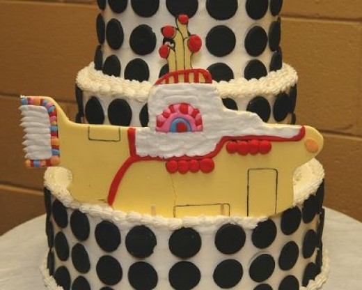 The Sea of Holes Beatles Birthday Cake