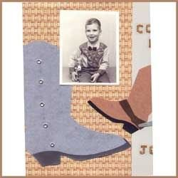 Heritage Scrapbook Layout Showing Little Boy in a Cowboy Outfit