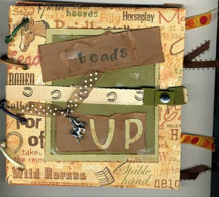 Front of Hand Made Scrapbook with Equestrian Theme