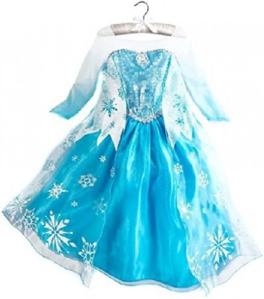 princess/queen elsa's costume dress