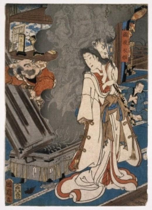 Kunichika Toyohara[see page for license], via Wikimedia Commons