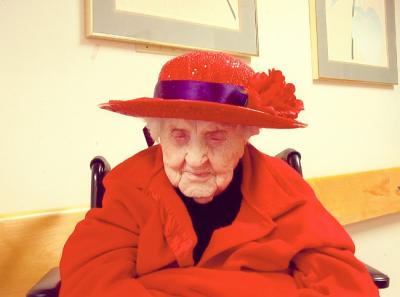 Neva Morris age 110 Red Hat Society October 2005