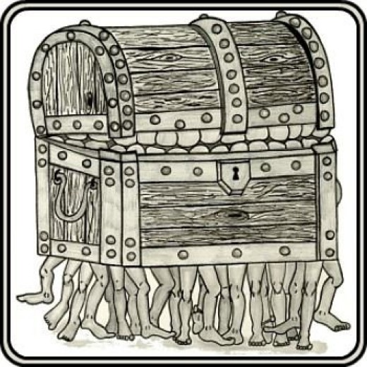 The Luggage Hand Drawn in Ink