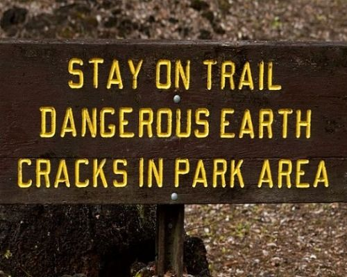 It is Too Dangerous to Wander Off the Trail