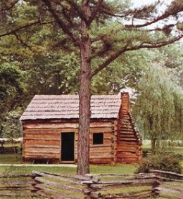 Lincoln's boyhood home sketch by answers.com