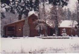 Little Linda Pinda's Parents Log Cabin
