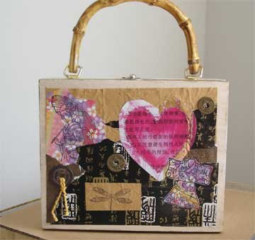 Valentine Cigar Box Purse with Asian Theme